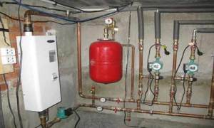 Система водяного отопления с мембранным баком