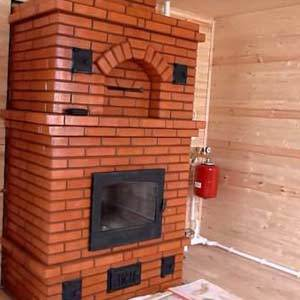 Кирпичная печь для отопления дома с водяным контуром