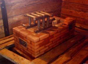Расположение теплообменника в топливнике