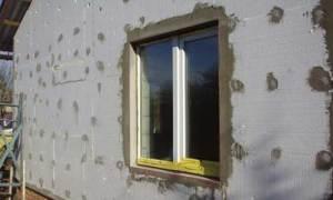 Стена, утепленная пенопластом снаружи