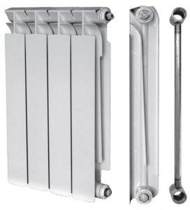 Биметаллический радиатор сталь+алюминий