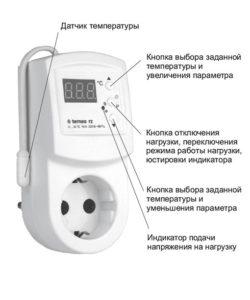 Вынесенный электронный терморегулятор