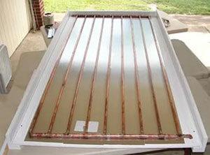 Радиатор солнечного коллектора из медных трубок